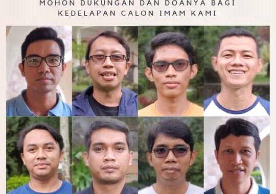 Dukungan dan Doa Untuk Delapan Calon Imam